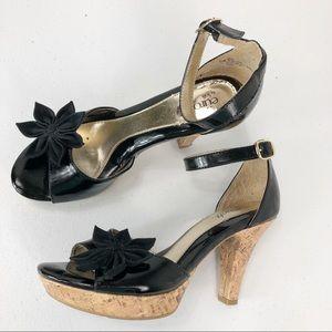 Euro soft by soft heeled shoes black size 6.5 (35)